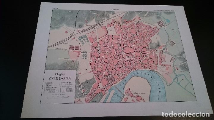 LAMINA CROMOLITOGRAFICA ENCICLOPEDIA SEGUI 1905 MAPA PLANO DE CÓRDOBA - DOBLE CARA (Coleccionismo - Mapas - Mapas actuales (desde siglo XIX))