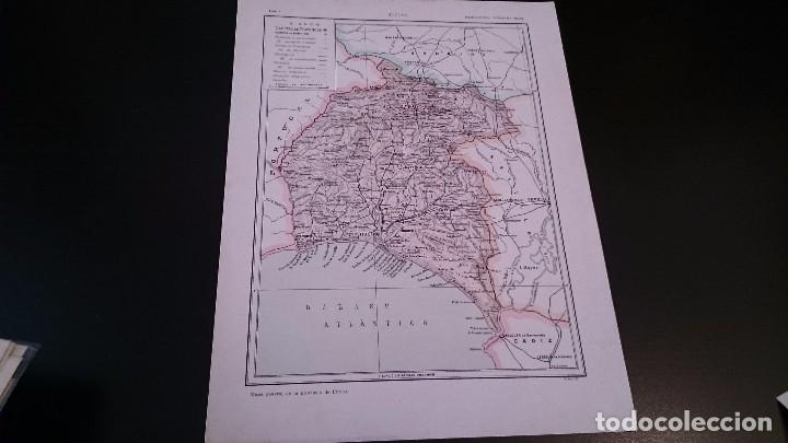 LAMINA CROMOLITOGRAFICA ENCICLOPEDIA SEGUI 1905 MAPA HUELVA - DOBLE CARA (Coleccionismo - Mapas - Mapas actuales (desde siglo XIX))