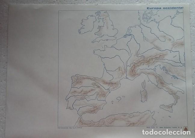 MAPA ESCOLAR AÑOS 80-70. EUROPA OCCIDENTAL. EDITORIAL TEIDE (Coleccionismo - Mapas - Mapas actuales (desde siglo XIX))