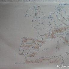 Mapas contemporáneos: MAPA ESCOLAR AÑOS 80-70. EUROPA OCCIDENTAL. EDITORIAL TEIDE. Lote 99279667
