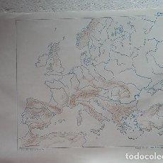 Mapas contemporáneos: MAPA ESCOLAR AÑOS 80-70. EUROPA. EDITORIAL TEIDE. Lote 99279935