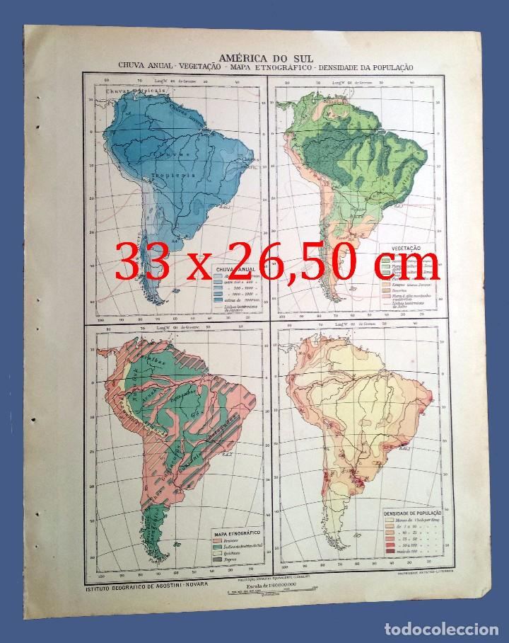 Map Of The Year 1924 America Do Sul Institu Buy Contemporary
