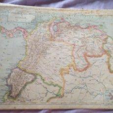 Mapas contemporáneos: ANTIGUO MAPA LITOGRAFIA AÑOS 30 / 40 LIT. FERNANDEZ GONZALO CORDOBA - VENEZUELA COLOMBIA ECUADOR. Lote 100445895