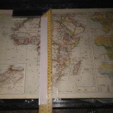 Mapas contemporáneos: REF MAPAS GRAN ANTIGUO MAPA 49X34 CM LITOGRAFIA AFRICA - MARRUECOS . Lote 100646027