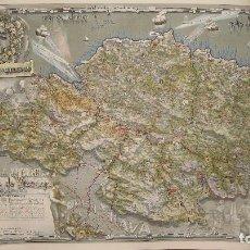Mapas contemporáneos: MAPA DE VIZCAYA, POR G.H. OÑATIVIA. EDICIÓN DEL BANCO DE BILBAO EN LOS AÑOS CINCUENTA DEL XX.. Lote 101363155
