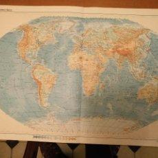 Mapas contemporáneos: GRAN MAPA DOBLE 1970 - 48X32 CM - MAPAMUNDI MUNDI FISICO . Lote 101710059