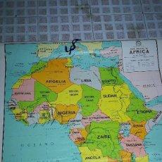 Mapas contemporáneos: MAPA DE ESCUELA DE AFRICA FISICO Y POLITICO 92X65 -ENTELADO. Lote 102264311