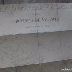 Mapas contemporáneos: VALENCIA MAPA PROVINCIA PRINCIPIOS SIGLO XX INSTITUTO GEOGRÁFICO Y ESTADÍSTICO - ENTELADO CON CAJA. Lote 102511879