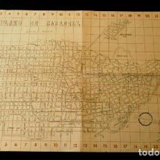 Mapas contemporáneos: PLANO DE SABADELL - ESCALA 1:10000 SEPTIEMBRE DE 1944 - ARQUITECTO JOAQUIM MANICH I COMERMA. Lote 102649091