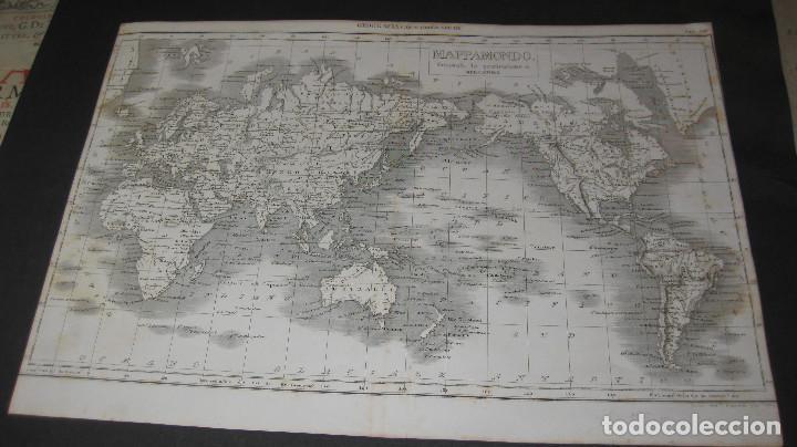 BONITO MAPAMUNDI ITALIANO, AÑO 1862. TAMAÑO DE 28X40 CM. (Coleccionismo - Mapas - Mapas actuales (desde siglo XIX))