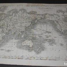 Mapas contemporáneos: BONITO MAPAMUNDI ITALIANO, AÑO 1862. TAMAÑO DE 28X40 CM.. Lote 102788239