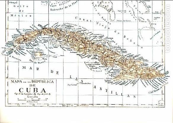 Mapa De La Republica De Cuba 245 X 30 Cm Kaufen