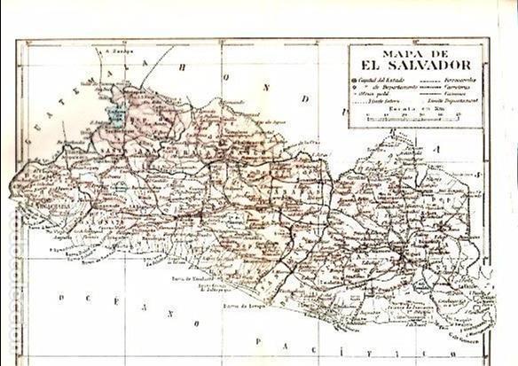Mapa De El Salvador 24 5 X 30 Cm Espasa Buy Contemporary Maps At Todocoleccion 102812607
