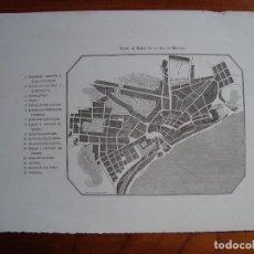 Mapas contemporáneos: PLANO DE MAHON EN LA ISLA DE MENORCA. MARTÍNEZ. BALEARES. SIGLO XIX. . Lote 102953495