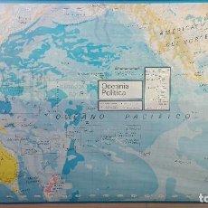 Mapas contemporáneos: MAPA MURAL ESCUELA FISICO POLITICO DE OCEANIA 125X85 CM. Lote 103093619