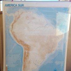 Mapas contemporáneos: MAPA MURAL COLEGIO AMERICA DEL SUR SUDAMERICA CON FUNDA 97X132 CM. Lote 103093647
