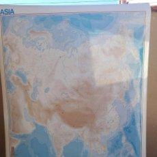 Mapas contemporáneos: MAPA MUDO MURAL COLEGI AFRICA ASIA CON FUNDA ORIGINAL 97X132CM. Lote 103093687