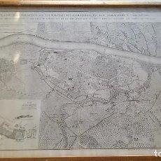 Mapas contemporáneos: PLANO TOPOGRAFICO DE LA CIUDAD DE ZARAGOZA-DEFENSAS DE LOS SITIOS ZARAGOZA EN GUERRA INDEPENDENCIA. Lote 103146107