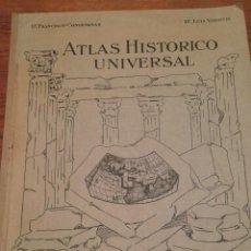 Mapas contemporáneos: ATLAS HISTORICO UNIVERSAL - CONDEMINAS Y VISINTIN - AÑOS 1920. Lote 103383775