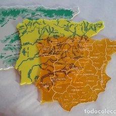 Mapas contemporáneos: DFH. MAPAS, PLANTILLAS ESCOLARES DE PENINSULA IBERICA, ESPAÑA: POLITICO, FISICO, RIOS. AÑOS 70- 80 . Lote 103887359