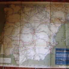 Mapas contemporáneos: ANTIGUO MAPA DE ESPAÑA . RED NACIONAL DE FERROCARRILES PUBLICACIONES GIOL. Lote 104547707