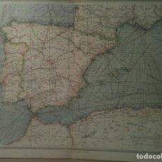 Mapas contemporáneos: INTERESANTE MAPA DE INDUSTRIAS Y COMUNICACIONES DE ESPAÑA Y PORTUGAL EN 1860 (52X40CM). Lote 105443899