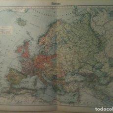 Mapas contemporáneos: MAPA DE LA EUROPA CONTEMPORANEA AL IMPERIO AUSTRO-HUNGARO EN 1875 (46X39CM). Lote 105465155
