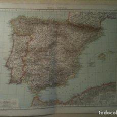 Mapas contemporáneos: MAPA DE LOS REINOS DE ESPAÑA Y PORTUGAL EN EL AÑO 1893 (54X41CM). Lote 105471723
