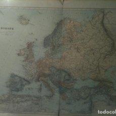 Mapas contemporáneos: MAPA DE EUROPA A FINALES DEL SIGLO XIX EN GRAN TAMAÑO (75X55CM). Lote 105473023