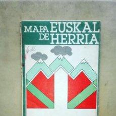 Mapas contemporáneos: MAPA EUSKAL DE HERRIA. 1967. DESPLEGABLE. ESCALA 1:200.000. Lote 106184983