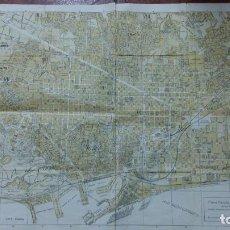 Mapas contemporáneos: PLANO PARCIAL DE BARCELONA. EDIT RAPIDO. 55 X 43 CM. Lote 107734139