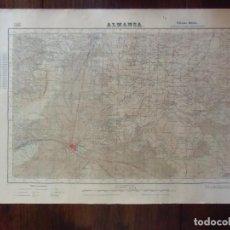 Mapas contemporáneos - ALMANSA(Albacete) PLANO TOPOGRAFICO MILITAR.1ª EDICION.1951. - 107919895