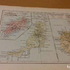 Mapas contemporáneos: LAS PALMAS - MAPA DE LA PROVINCIA - PUBLICADO POR S.A. ANUARIOS BAILLY-BAILLIERE Y RIERA UNIDOS - . Lote 107925403