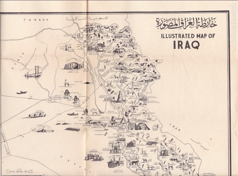 iraq - mapa ilustrado / illustrated map of iraq - Kaufen ...
