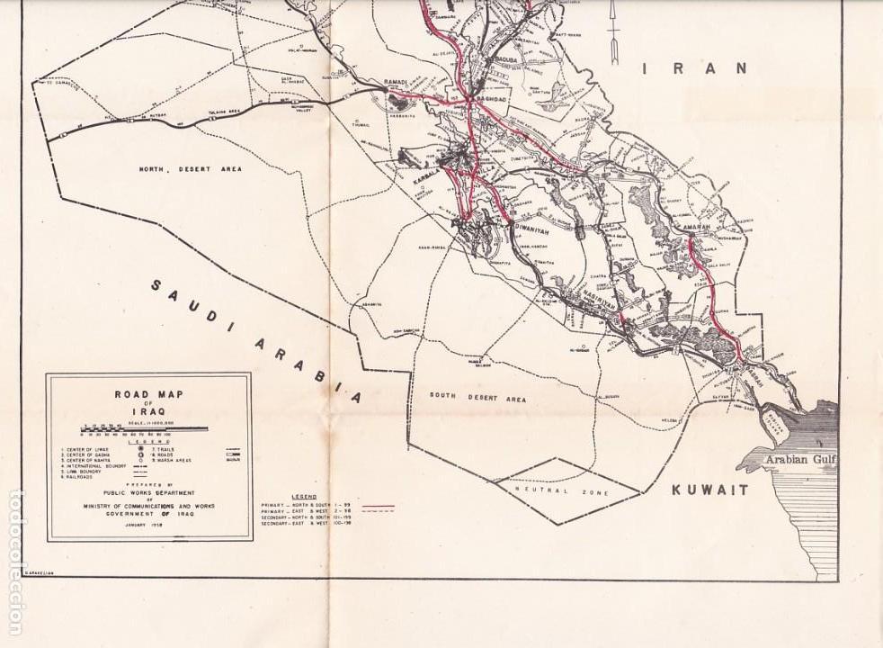 iraq - mapa ilustrado / road map of iraq - bagh - Kaufen ...