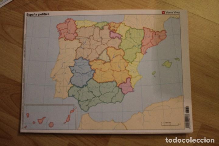 Mapa Politico De España Mudo Vicens Vives.Lote 535 Mapas Mudos Vicens Vives