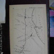 Mapas contemporáneos: 1860 HOJA DEL ITINERARIO DE BARCELONA A ZARAGOZA ( ZONA TORRES DE SEGRE). Lote 108428423