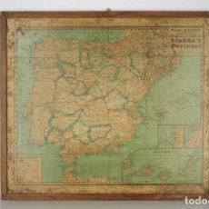 Mapas contemporáneos: MAPA ESCOLAR ESPAÑA PORTUGAL POLITICO VINTAGE PALUZIE. Lote 108784135