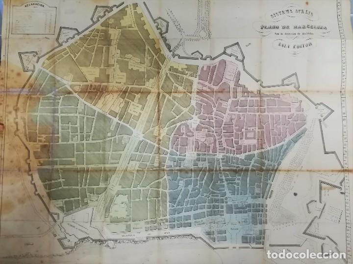Plano Mapa Topografico De Barcelona Siglo Xix A Vendido En Venta