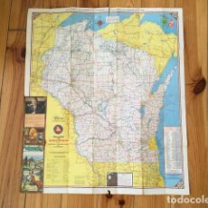 Mapas contemporáneos: WISCONSIN 1975 - OFFICIAL HIGHWAY MAP. Lote 109229859