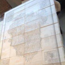 Cartes géographiques contemporaines: SORIA * AÑO 1860 * GRAN MAPA ENTELADO 112 CM X 83 CM * GRABADO AL ACERO CON PLANOS AUXILIARES. Lote 109408783