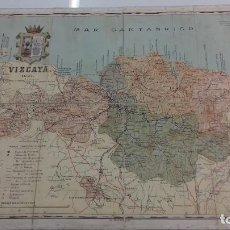 Mapas contemporáneos: MAPA DE LA PROVINCIA DE VIZCAYA 1903 ORIGINAL BENITO CHIAS Y CARBÓ PAIS VASCO. Lote 109490991