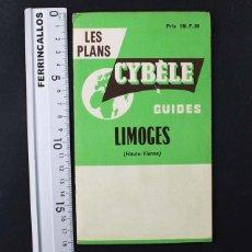 Mapas contemporáneos: LES PLANS CYBELE GUIDES LIMOGES (HAUTE-VIENNE) FRANCIA, PLANO MAPA. Lote 111427403