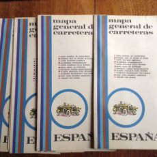 Mapas contemporáneos: MAPA GENERAL DE CARRETERAS ESPAÑA 1970 Y REGALO. Lote 112108339