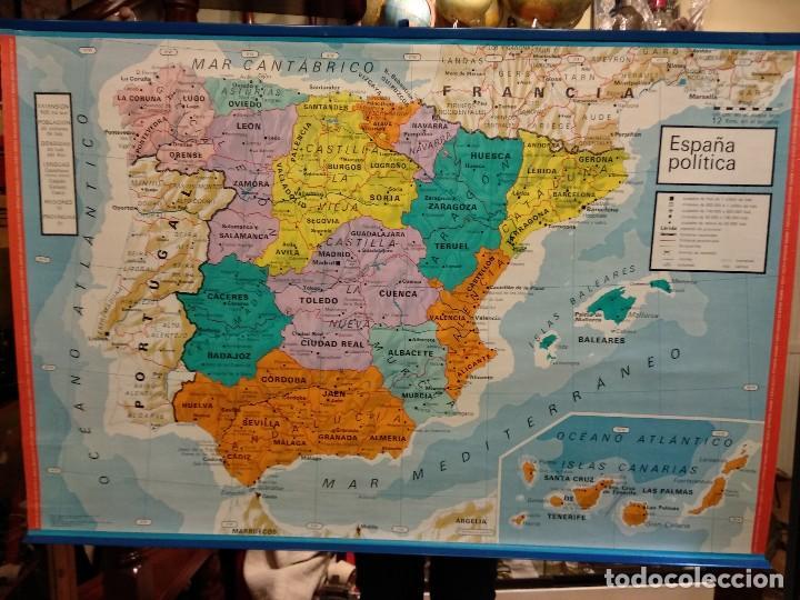 mapa mural de la península ibérica, españa. vic - Kaufen ... on