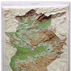 Mapas contemporáneos: MAPA EN RELIEVE DE EXTREMADURA A ESCALA 1:300.000 SOBRE LÁMINA DE PVC TERMOMOLDEADA. NUEVO.. Lote 112630467