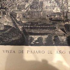 Mapas contemporáneos: MADRID A VISTA DE PAJARO 1873 . Lote 112661923