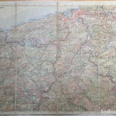 Mapas contemporáneos: MAPA DE SAN SEBASTIÁN Y GUIPÚZCOA - ENTELADO Y PLEGABLE. Lote 112699387