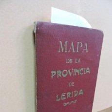 Mapas contemporáneos: MAPA DE LA PROVINCIA DE LÉRIDA. ED. A. MARTÍN. MAPA DESPLEGABLE EN TELA. Lote 112702119