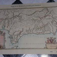 Mapas contemporáneos: MAPA GEOGRAFICO DE LOS REINOS DE GRANADA Y DE ANDALUCIA. Lote 112812679